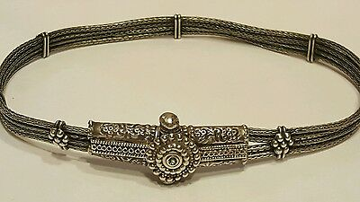 Antique Ottoman Turkish Empire 800 Silver Choker Necklace Wedding Gift