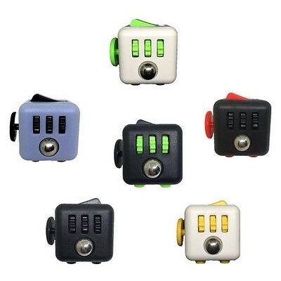 Hot 1Pcs Stress Relief Focus 6-side Fidget Cube Dice Christmas Gift Toy