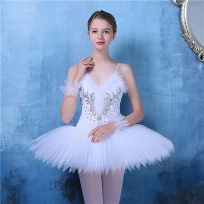 New Adult Professional Swan Lake Tutu Ballet Costume Hard Organdy Platter Skirt
