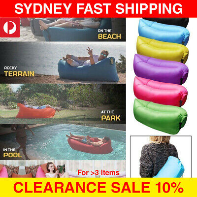 Air Sleeping Bag Lazy Chair Lounge Beach Sofa Bed Inflatable Camping Lounger