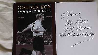 Wilf Mannion Signed Book 1997 Rare