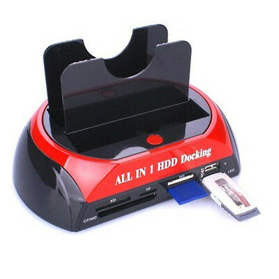 """USB 3.0 to 2.5""""/3.5"""" SATA HDD Docking Station All in One Card Reader Hard Drive"""