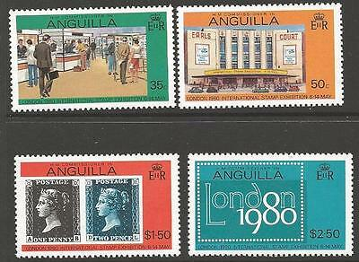 Anguilla Sg384/7 1980 Stamp Exhibition Mnh