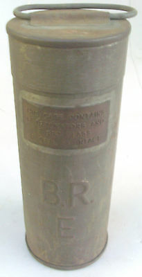 B R Embossed Fog Warning Signal Canister Steam Era With Brass Contents Plate