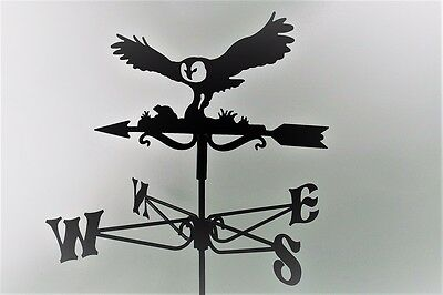 Owl and Mouse Metal Weathervane