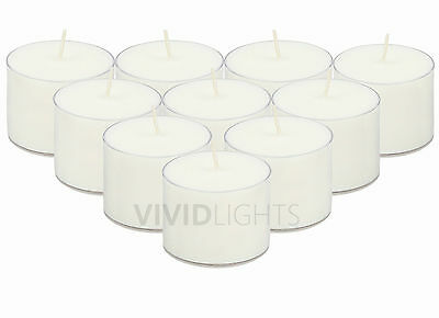 Clear Cup Tea Light Candle 9hr  x 50,100 Tealight Candles Acrylic Cup