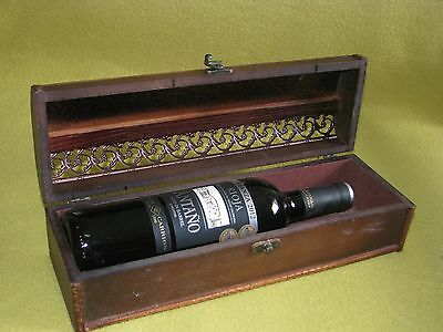 decorated wine wooden box