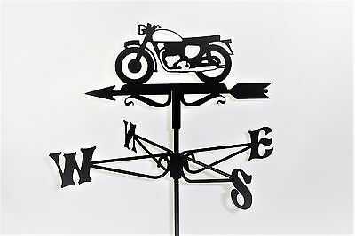 Vintage Motorcycle Metal Weathervane