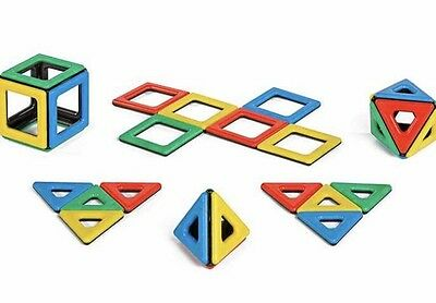 Magnetic Polydron -32 Piece Set. Educational Construction Toy Christmas Gift