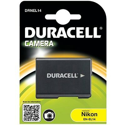 Duracell DRNEL14 Replacement Digital Camera Battery for Nikon EN-El14 New Uk