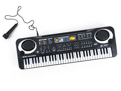 KP8194 KEYBOARD  SYNTHESIZER 61 keys musical instrument microphone piano kids