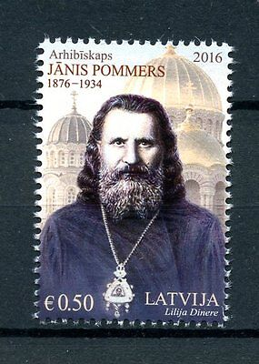 Latvia 2016 MNH Janis Pommers Archbishop Latvian Orthodox Church 1v Set Stamps