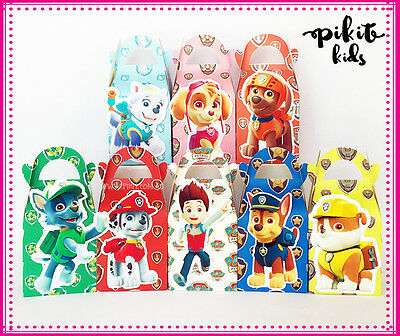 16X Paw Patrol Party Favour Boxes  Themed Kids Birthday Bag Supplies Decorations