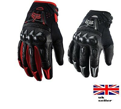 Fox Waterproof Motorbike Motorcycle Gloves Carbon Knuckle Protection Winter