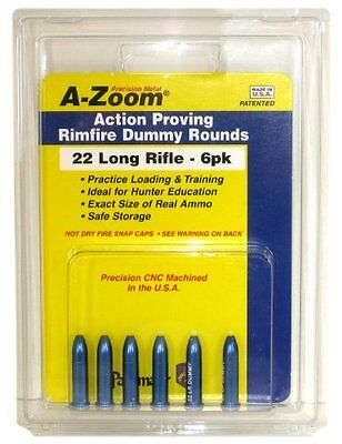 A-Zoom 6-Pack Precision Dummy Rounds Fits 22 Lr Action Proving A-Zoom Snap Caps