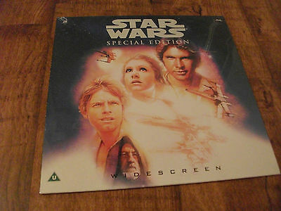 """Star Wars Special Edition Laserdisc.Widescreen.Rare Sci-Fi.""""PAL"""".SHRINKWRAPPED !"""