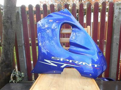 Triumph Genuine 955I Sprint ST 2nd Generation Left Side Fairing Panel in blue