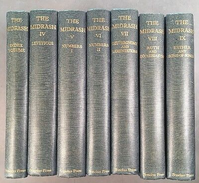 Volume 4-9 The Midrash Rabbah And Index Ruth Esther Leviticus Deuteronomy Number