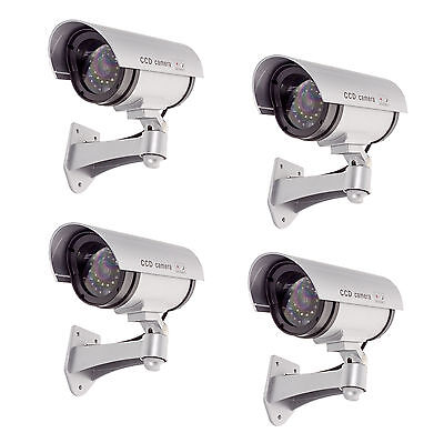 4x Dummy Security Camera Fake Infrared Red LEDs Blink Flashing Light Surveillanc
