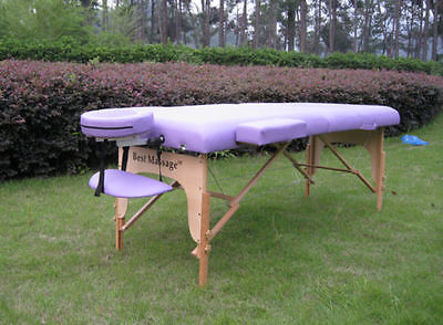 """High Quality BestMassage Purple 77""""L 3"""" Pad Portable Massage Spa Bed Table"""