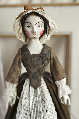 """William Higgs Style, Queen Anne style Wooden Doll about 10"""" by TeddySoul"""