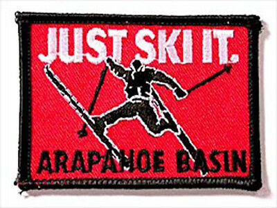 Arapahoe Basin Just Ski It Embroidered Souvenir Patch