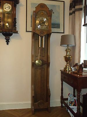 Open Fronted Grandfather / Longcase Clock. Solid Wood Case.