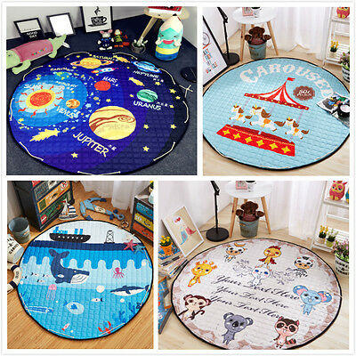 Soft Cotton Baby Kids Game Activity Play Round Mat Crawling Blanket Floor Rug