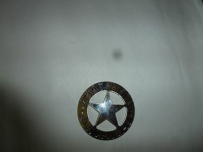 Franklin Mint Sterling Silver Badge Marshal Wichita Old West Lawman Collection