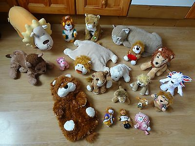 Bundle Of 20 Large & Small Plush Soft LIONS 21 inches Long max