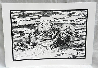 Otters Playing - Print - M Hodge 1996