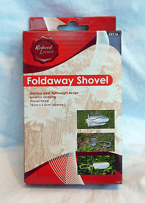 Stainless Steel Foldaway Shovel - Lightweight - Camping / Outdoors - BNIB