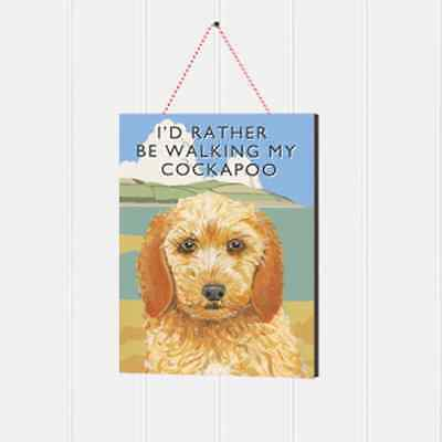 Cockapoo Wooden Sign Gift