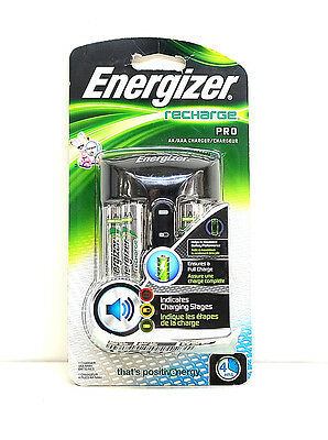 -Energizer Pro Charger With 4- Pack AA NiMH Rechargeable Batteries