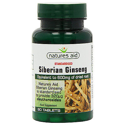 Natures Aid Siberian Ginseng - 90 Tablets