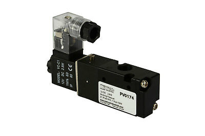 "NEW 12V DC Solenoid Air Pneumatic Control Valve 3 Port 3 Way 2 Position 1/8"" NPT"