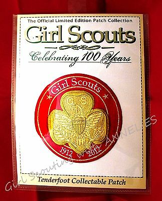 100th Anniversary Girl Scout Awards 1916 Large TENDERFOOT Patch Special GIFT