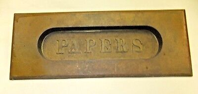 "Antique ""Papers"" Slot"