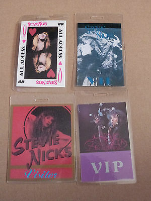 STEVIE NICKS (Fleetwood Mac) - Collection of 4 Laminated Backstage Tour Passes