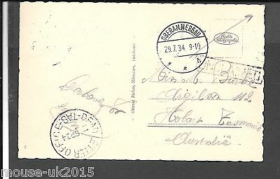 Australia 1934 Ppc R/p From Germany Dead Letter Office Cancel.
