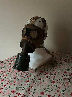 WW2 French Army military gas mask 1939 with case