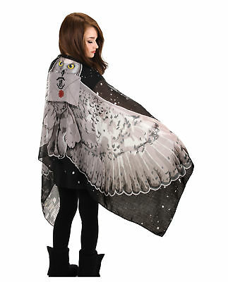 Harry Potter Hedwig Feather Wings Lightweight Sheer SCARF Shawl Wrap Owl Gift