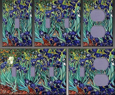 Van Gogh Irises Wall Decor Light Switch Plate Cover