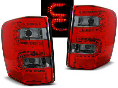 New Set Rear Tail Lights Ldch09 Chrysler Jeep Grand Cherokee 99-05 Red Smoke Led