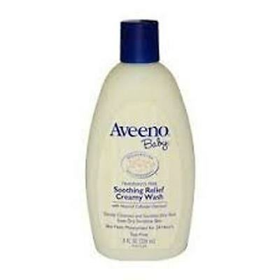 Aveeno Baby Creamy Wash Soothing Relief w/ Nat Colloidal Oatmeal 8 oz