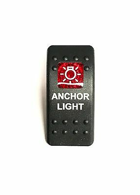Labeled Contura II Rocker Switch COVER ONLY Underwtr Lts Blue Lens