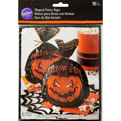"Shaped Party Bags 6""X9"" 15/Pkg Hallows Eve W126103"