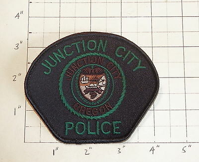 Junction City (OR) Police Department Patch    Black/Black Trim         ***NEW***