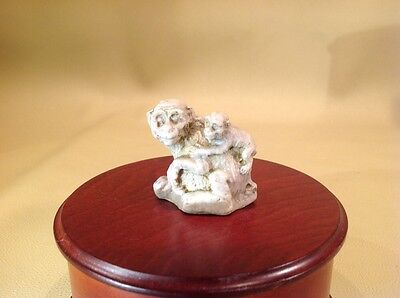 Vintage Miniature Monkey With Baby Hand Made
