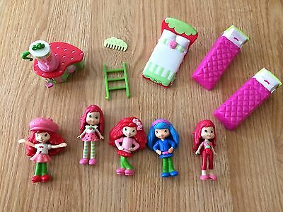 STRAWBERRY SHORTCAKE replacement girls house furniture large lot cafe figures